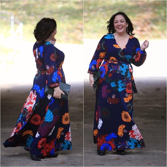 31d109261ef Eloquii Dresses   Skirts - Eloquii floral printed kimono maxi dress 14